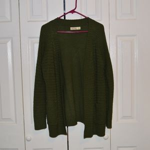 Forest Green Knitted Cardigan